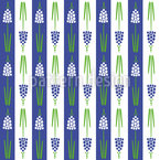 Hyacinth-Stripes Seamless Vector Pattern