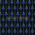 Hyacinth Minimal Vector Pattern