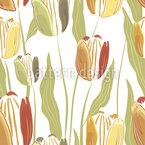 Filigrane gezeichnete Tulpe Nahtloses Vektormuster