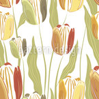 Filigree Painted Tulip Vector Design