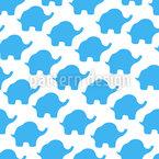 Abstrakte Elefanten-Form Nahtloses Vektormuster