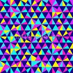 Triângulos geométricos Design de padrão vetorial sem costura