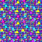 Triângulos geométricos diferentes Design de padrão vetorial sem costura