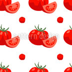 Juicy Tomatos Seamless Vector Pattern Design