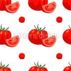 Saftige Tomaten Nahtloses Vektormuster