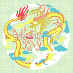Vintage Chinese Dragon Pattern Design