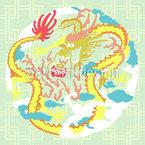Vintage Chinesischer Drache Muster Design