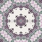 東洋の花 シームレスなベクトルパターン設計