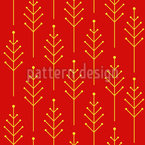 Abstract Christmas Trees  Repeating Pattern