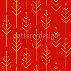 Abstrakte Weihnachtsbäume Rapportiertes Design