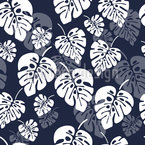Monstera Palm Leaves Design Pattern
