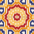Samarqand Ikat Seamless Vector Pattern Design