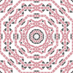 Mosaik Arbeit Vektor Ornament