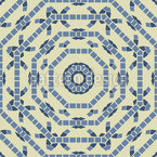 Achteckige Kreise Nahtloses Muster