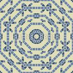 Círculos octogonais Design de padrão vetorial sem costura