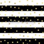 Estrelas Glitter E Listras Design de padrão vetorial sem costura