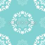 Pontos Flor Design de padrão vetorial sem costura