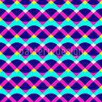 ネオンジオメトリ シームレスなベクトルパターン設計
