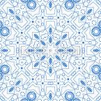 Linienblume Designmuster