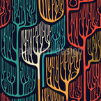 Haunted Trees Seamless Vector Pattern Design