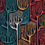 Verwunschene Bäume Nahtloses Vektormuster