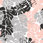 Monstera Shadows Seamless Vector Pattern Design