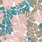 Monstera In The Jungle Seamless Pattern