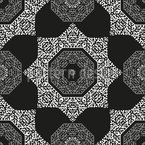 Orientalischer Oktogon Stern Rapportiertes Design