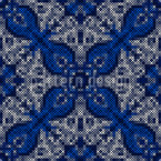 Decorative Embroidery Seamless Vector Pattern Design