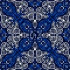 Dekoratives Stickerei Muster Design