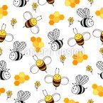 Niedliche Bienen Designmuster