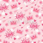 Adoráveis cartas de amor Design de padrão vetorial sem costura