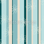 Flowers and Stripes Seamless Pattern