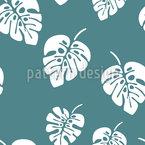 Monster Palm Leaves Seamless Vector Pattern