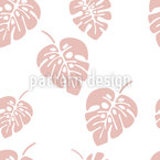 Folhas de Palmeira Monstro Design de padrão vetorial sem costura