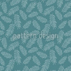 Tropical Feather Leaves Repeating Pattern