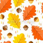 Bunte Herbstblätter Nahtloses Vektormuster