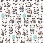Pandas mit Geschenken Muster Design