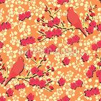 Pfirsichblüte Rapportiertes Design