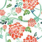 Blüten und Stiele Muster Design