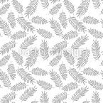 Delicate Feather Leaves Design Pattern