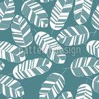 トロピカルバナナの葉 シームレスなベクトルパターン設計
