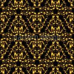 Goldene barock Masken Nahtloses Vektormuster