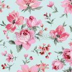 Vintage Rosenblüten Nahtloses Vektormuster