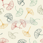 Delicate Ginkgo Leaves Design Pattern