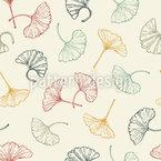 Zarte Ginkgo-Blätter Designmuster