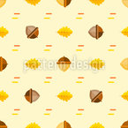 Acorns And Oak Leaves Seamless Vector Pattern