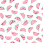 Wassermelonen Stücke Nahtloses Vektormuster