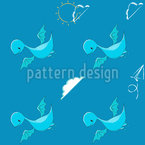 Cute Dinosaur Seamless Vector Pattern Design