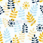 Falling leaves and seeds Seamless Vector Pattern Design